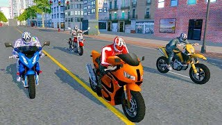 Bike Racing Games - Furious City Motorcycle Racing #2 - Gameplay Android free games