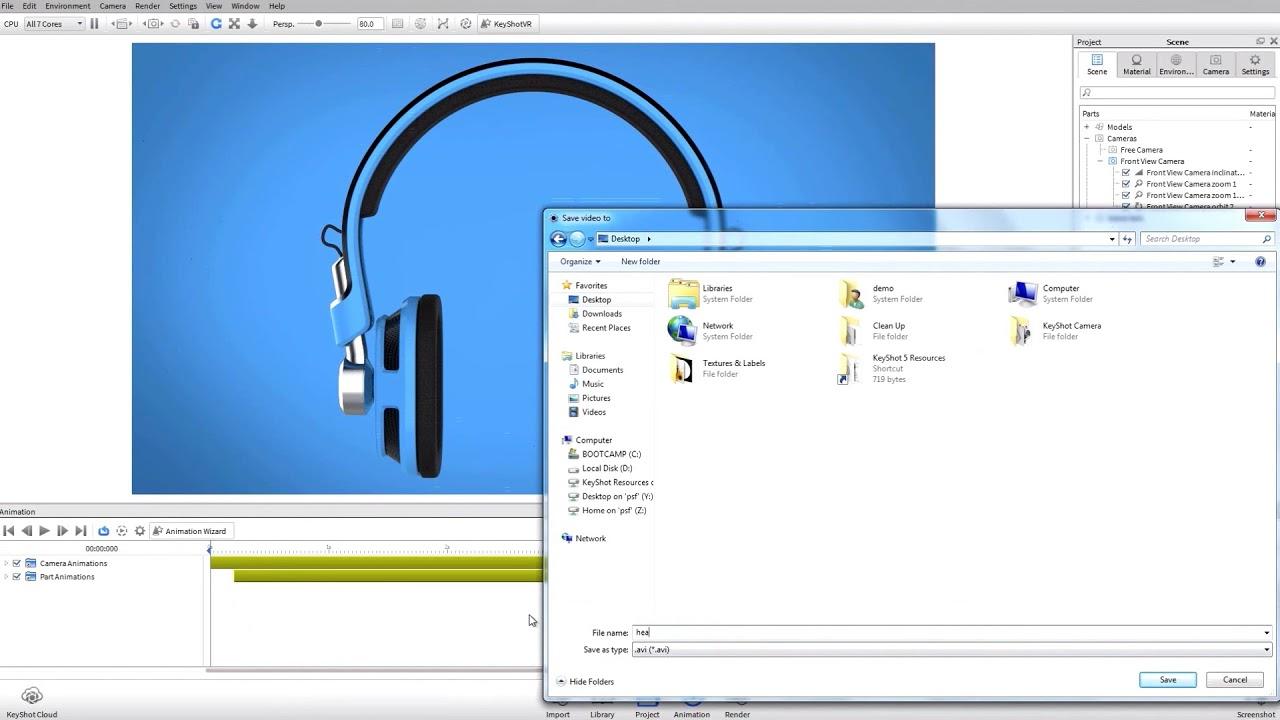 keyshot 6 rendering preview - YouTube