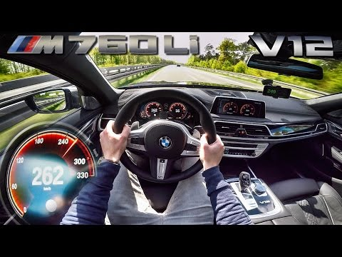 BMW M760Li 6.6 V12 BiTurbo AUTOBAHN POV Acceleration & TOP SPEED by AutoTopNL