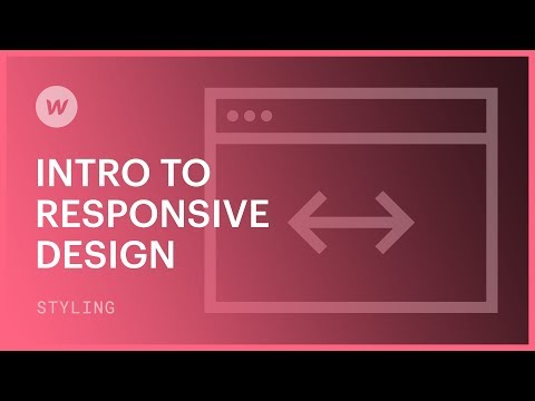 Responsive web design for beginners - Webflow tutorial