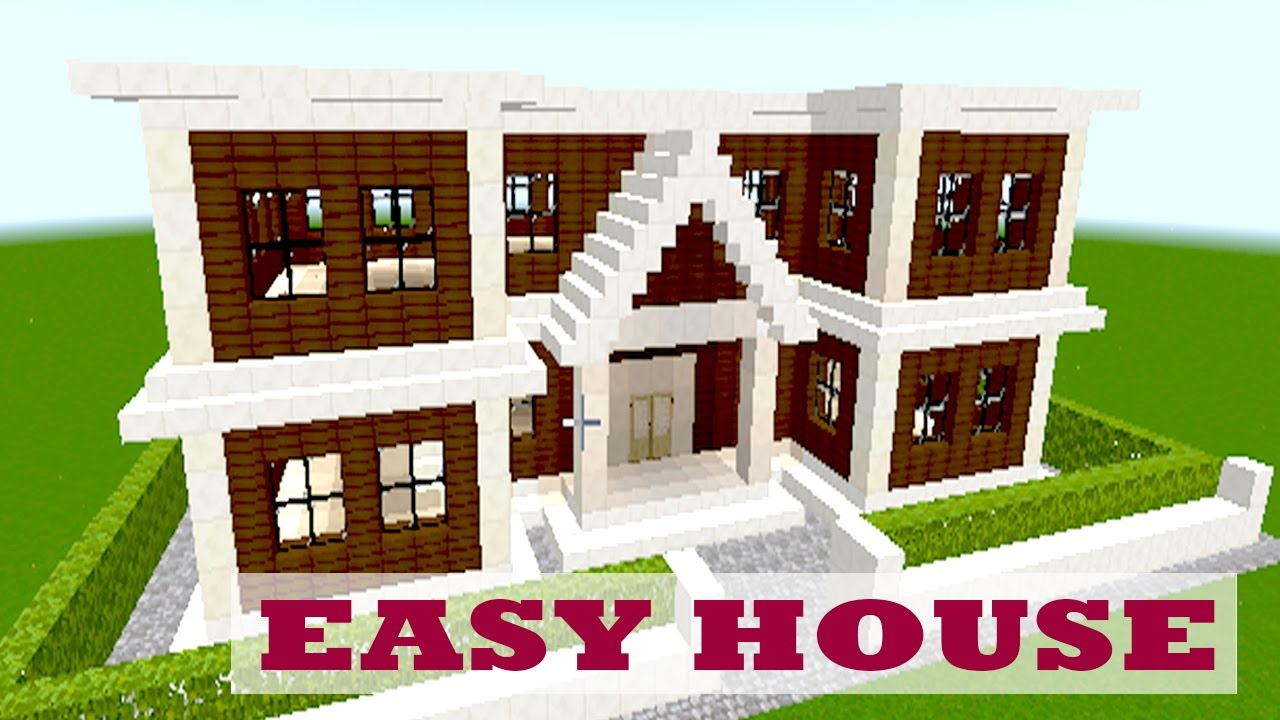 Minecraft house tutorial easy big house 32 youtube for Big modern house tutorial