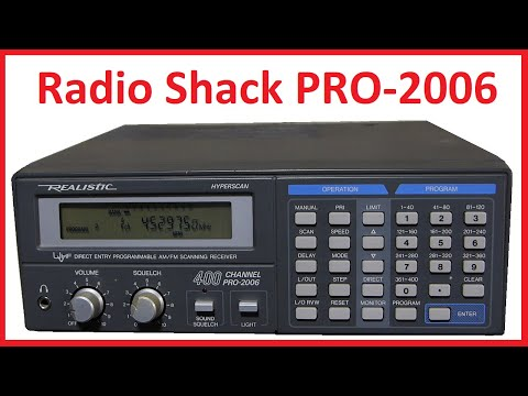 Radio Shack Realistic PRO-2006 Scanner Detailed Programming, Overview And Demo