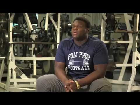 Isaiah Wilson - Poly Prep Offensive Lineman - Highlights/Interview - Sports Stars of Tomorrow