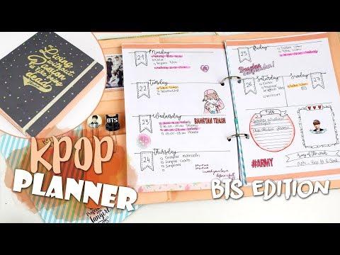 DIY KPOP: KPOP PLANNER UNDER 4€ |K-freakEnglish| BTS Edition | Back to school