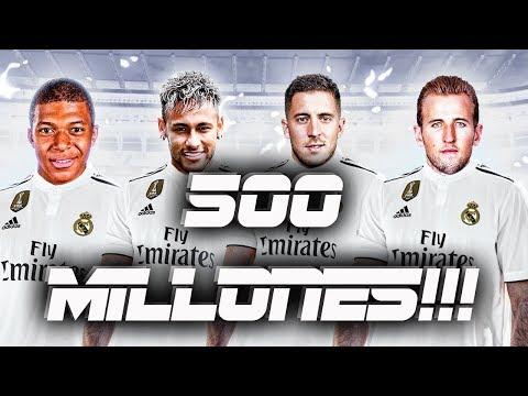 EL REAL MADRID GASTARÁ 500 MILLONES EN FICHAJES?? REAL MADRID PARA FIFA 19 thumbnail