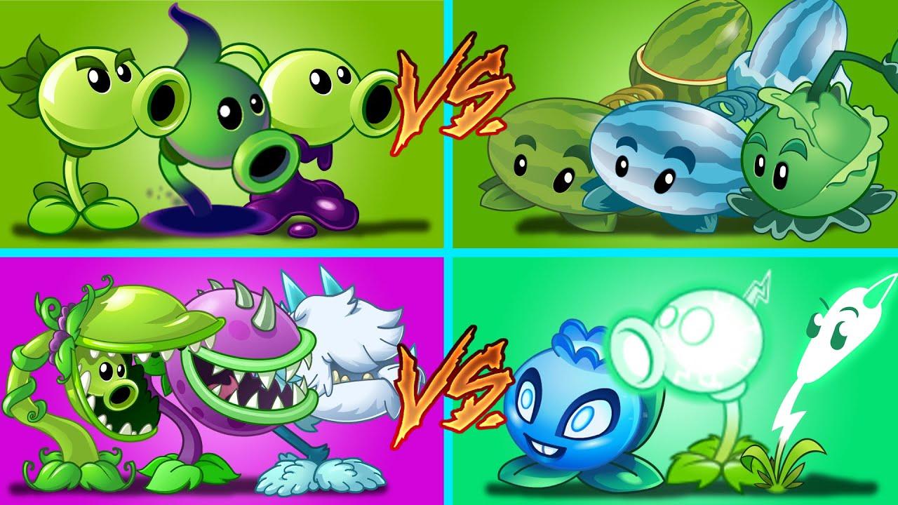 Plants Vs Zombies 2 Equipo Guisante Vs Lanzadores Vs Alcance Corto Vs Eléctrico