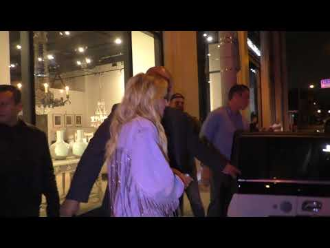 Petra Ecclestone and new boyfriend leave dinner at Catch in West Hollywood