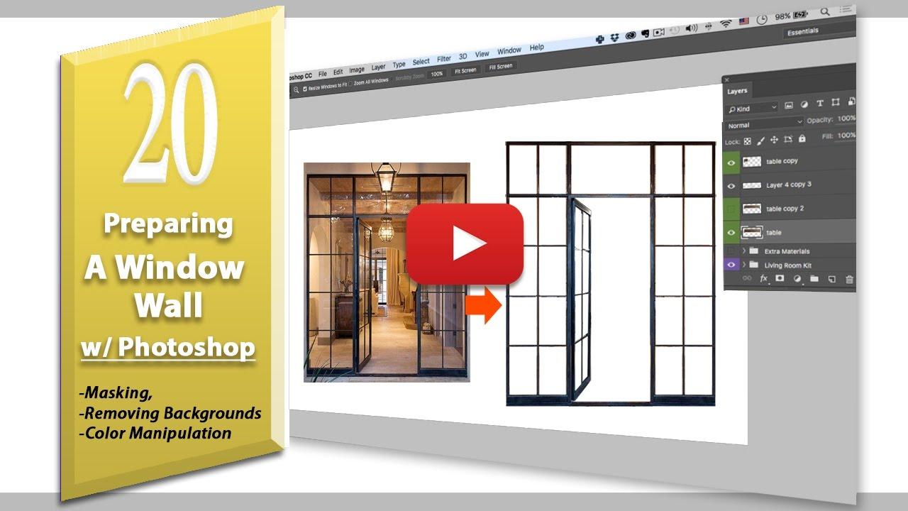 20: Window Wall Frame Preparation (concept board essentials) Photoshop cc