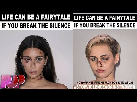 Miley Cyrus And Kim Kardashian Domestic Abuse Pictures