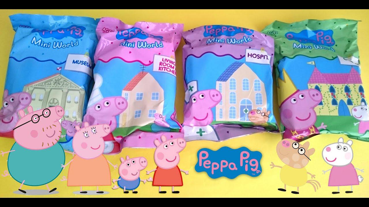 Свинка Пеппа пакетики с игрушками сюрпризом Peppa Pig blind bags with toys