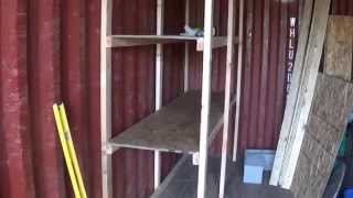 Shelves In The Shipping Container Video 1 - Off Grid Workshop, Tool Shed
