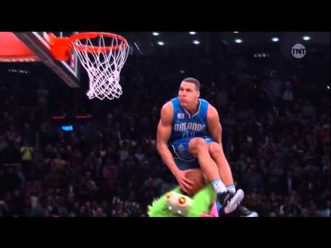 Aaron Gordon Slam Over Mascot Seated In Mid Air