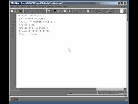 DFT code in one hour with Matlab - Part 1: The Hydrogen Atom with finite difference
