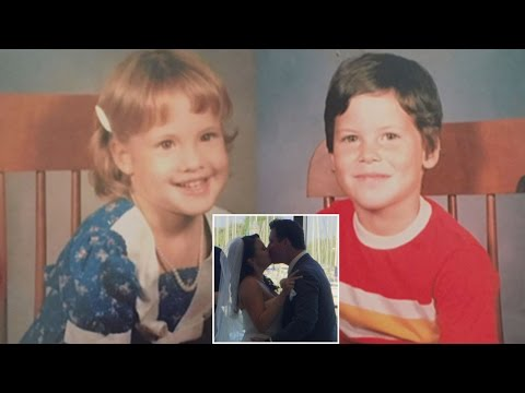 Couple Who Were Preschool Sweethearts Get Married After Meeting Online