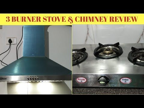 PREETHI 3 Burner Gas Stove| SUNFLAME Chimney Review| Cleaning Tips for Chimney & Gas stove in Tamil