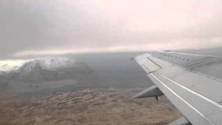 Flying away from Adak, Alaska