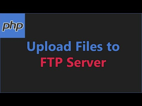 Upload Files To FTP Server Using PHP