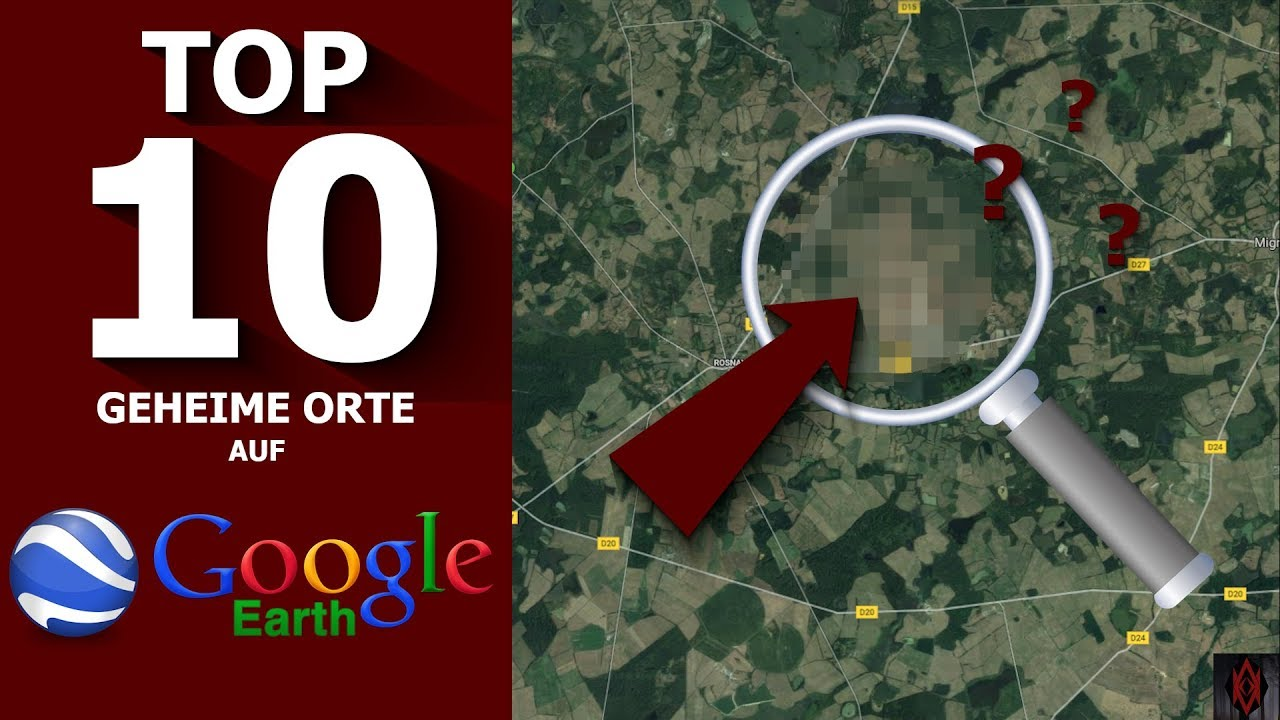 TOP 10 GEHEIME Orte auf Google Earth (Maps) | #realfacts | Accepteal