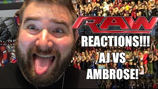 wwe raw reactions aj styles vs dean ambrose full show results and review 6 27 16