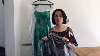 Cleaning evening dress May ball