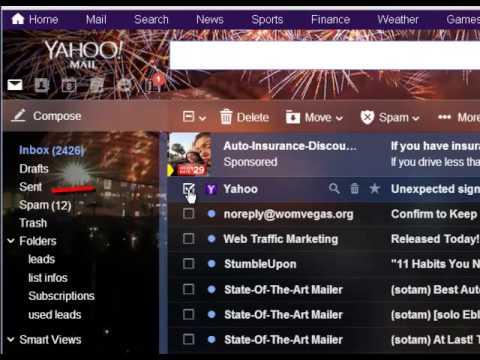 how to mass delete emails yahoo