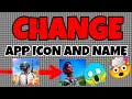 How to change app icon and name without launcher.  with Apk editor app by All 4 u.