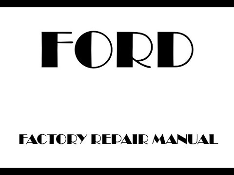 ford      factory repair manual youtube