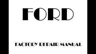 Ford F-150 2016 2017 2018 factory repair manual