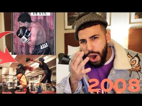 REACTING TO MY OLD BOXING MATCHES!!! (10 YEARS AGO)