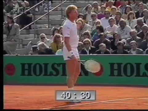 1990 - Hamburg Final (Tennis) - Aguilera vs Becker - Part 02