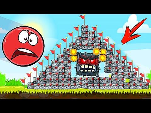 Красный Шар - мод на 1000 квадратов всех видов на уровне ! Red Ball 4 Mod 100 Square шарик