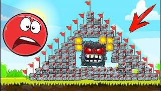 Красный Шар - мод на 1000 квадратов всех видов на уровне ! Red Ball 4 mod 100 square шарик для детей