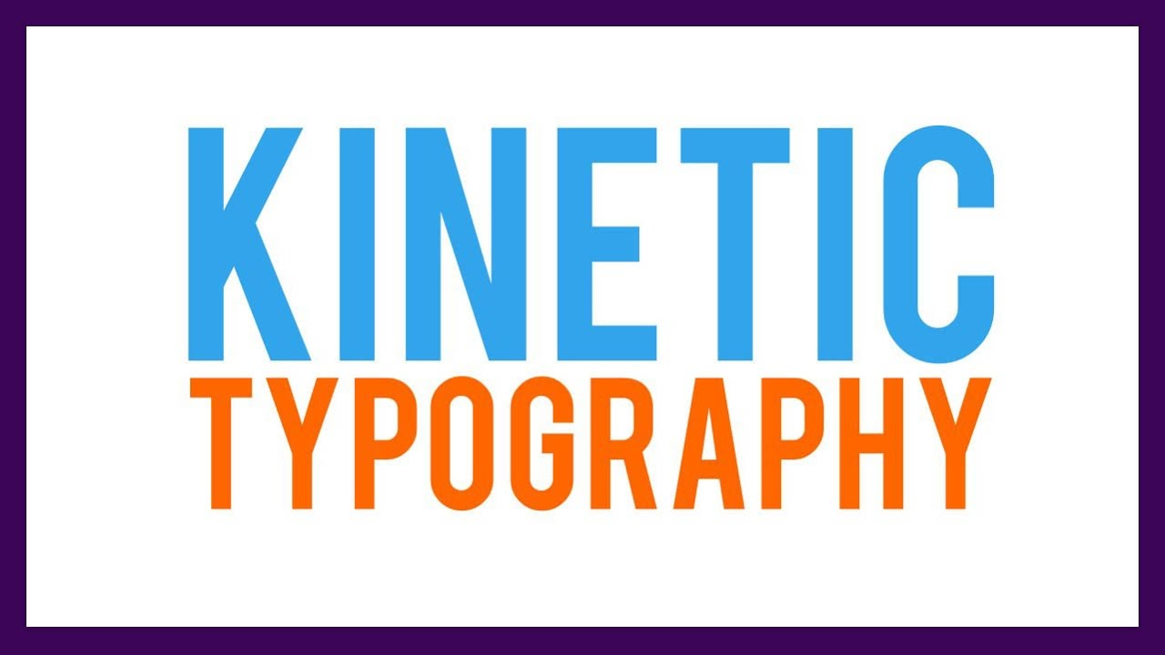 typography kinetic animtion after effects youtube