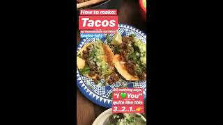 Ground Beef Tacos, Homemade Tortillas