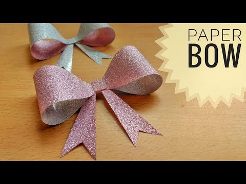 How to make an easy paper bow | Christmas decoration