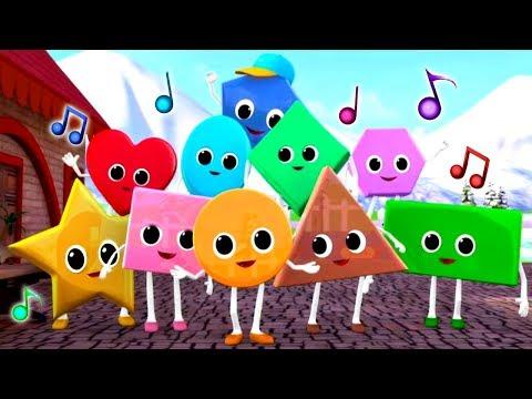 Учим фигуры и цвета с Литл Бэйби Бам - Детские песни - Сборник для малышей