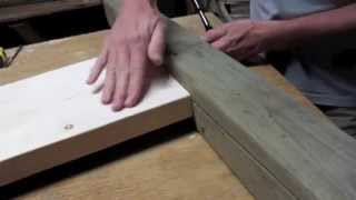 Build a bed with strong joinery like this extremely strong and easy