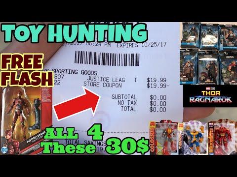 New Justice League Flash For Free @ Target, New Thor Ragnarok Marvel Legends Found, Huge 30$ Score!!
