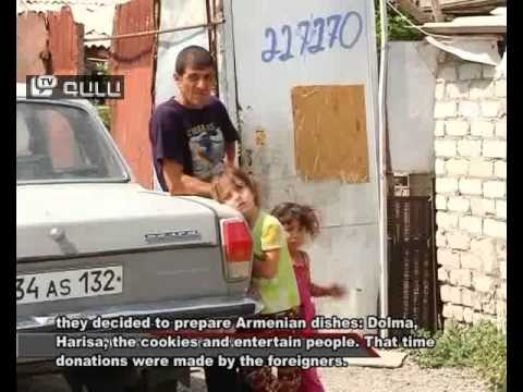 Offering Armenian women prepared meals to foreigner – money was collected for charity