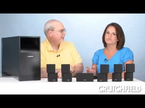 2 Bose Double Cube Speakers Satellite Style Surround Lifestyle Acoustimass