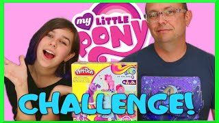 My Little Pony Play-Doh Challenge - Zombie Brain Pony VS Flower Bright Pony
