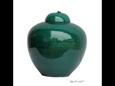 chinese-teal-green-porcelain-ceramic-fat-jar-with-lid-cs733-8
