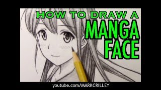 "How to Draw a Manga Face: ""Looking Over Shoulder"" Pose"