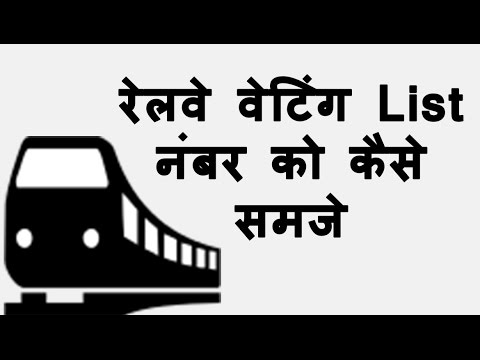 IRCTC Railway Waiting list meanings | What is Waitng List | how to Confirm Waiting List in Hindi