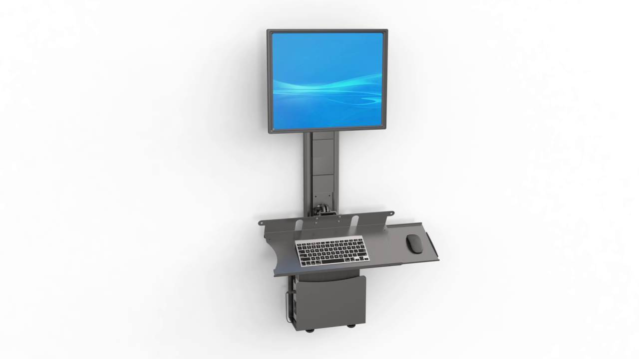 Wall Mounted Computer Workstation Youtube