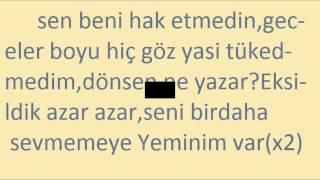 Demet Akalın - Yeminim Var(Lyric Video)