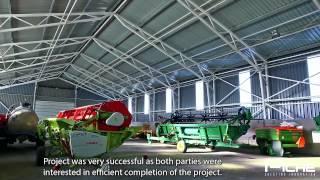 Piche Ltd. client testimonial - agricultural hangar
