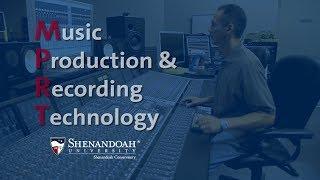 Music Production and Recording Technology Program at Shenandoah University
