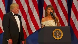 Melania Trump Speaks at Inaugural Armed Services Ball