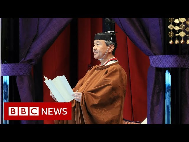 Japan's new emperor enthroned in ancient ritual - BBC News